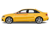 Neuf Original Audi A4 S4 Inférieur Avant Fenêtre Moulage Gauche Chrome