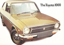 1975 1976 Toyota 1000 Original UK Car Sales Brochure Catalog Folder - Corolla