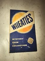 Wheaties Mystery Coin collection Folio - vintage collectible