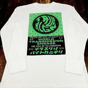 Womens True Religion Swirl Long Sleeve Crew White or Black Multi Sz T 203294