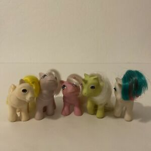 My Little Pony G1 Lot Of 5 Baby Lofty, Tiddly Winks, Gusty, Frosting & Blossom