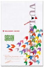 Tour de France 2015 Alexis Vullermoz letterpress cycling poster SIGNED