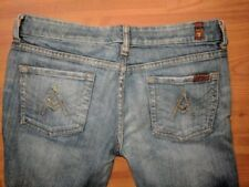 7 Seven for All Mankind A Pocket Medium Wash Flare Distressed Jeans - Size 28x28