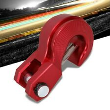 """Red Universal Aluminum 2.4"""" Towing Winch Recovery Hook Kit w/Safety Latch"""