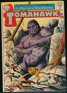 TOMAHAWK No. 86 1963 DC Western Comic Book The RANGERS vs. KING COLOSSO! VG-