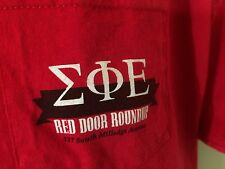 T-SHIRT  XL  100%  Cotton RED - SIGMA PHI EPSION 2012 -POCKET T a