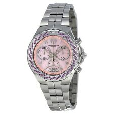 TechnoMarine 713013 Sea Pearl Chronograph Pink Dial Stainless Steel Ladies Watch