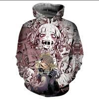 Ahegao Face Hoodie 3D Print Sweatshirt Manga Pullover Anime Hooded Jacket