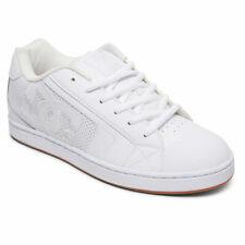 DC Shoes Men's Net Low Top Sneaker shoes White/white/Gum (HWG) Footwear Skate