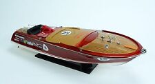 "Super Riva Zoom Wooden Classic Boat Model 35"" Fully Assembled"