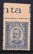 Ponta Delgada Portuguese Colonies Portugal SG 17 300r. blue on brown MUH
