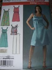 SIMPLICITY #3742 - LADIES EASY TO SEW SUMMER TOP-DRESS & PANTS PATTERN   4-12 FF