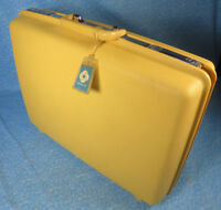 "Vintage Samsonite Concord 21"" Yellow Hardside Suitcase Luggage"