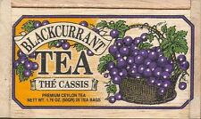 Black Currant Tea - 25 Bags - Decorative Wooden Box