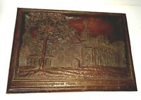 'Vintage HOME OF WASHINGTON AT MOUNT VERNON Wall Plaque-Syroco Wood, Syracuse,NY