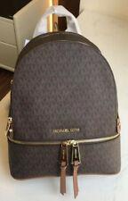 MICHAEL KORS 100% Chocolate Brown MK Logo RHEA Backpack Rucksack Bag NEW & TAGS