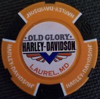 OLD GLORY HD ~ MARYLAND (Orange/Black Full Color) Harley Davidson Poker Chip