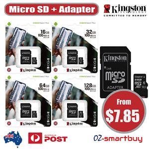 Kingston Micro SD SDHC SDXC 16GB 32GB 64GB 128GB UHS-I Class10 Memory Card Phone