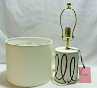 Kate Spade Ceramic Table Lamp Charlotte Street Navy Swirl Base with Shade New