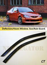 For Acura RSX 2001-2006, Windows Visors Deflector Sun Rain Guard Vent