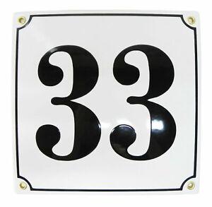 Porcelain address plaque 8x8″ customisable handcrafted enamel house number sign