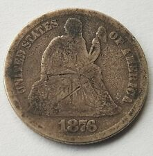 More details for usa 1876 dime silver dollar coin seated liberty