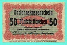 GERMANY OCCUPATION OF LITHUANIA WWl 50 KOPEKEN 1916 POSEN P. R 121 VF 748