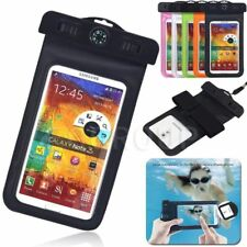 AU For Smart Phone Waterproof Underwater Pouch Dry Bag Neck Armband Compass Case