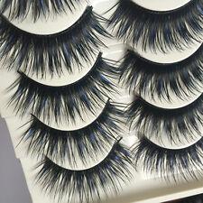 5 Pairs Extra Long Fake Eye Lashes Natural Thick Cross False Eyelashes Handmad
