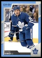 2020-21 UD O-Pee-Chee Blue Border #23 Cody Ceci - Toronto Maple Leafs