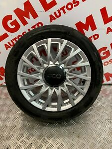 FIAT 500 ALLOY WHEEL AND TYRE SPARE ALLOY WHEEL 185 55 15