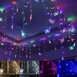 LED Schmetterling Lichterkette Lichtervorhang LED Beleuchtung Weihnachten Party