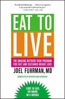 EAT TO LIVE by Joel Fuhrman a paperback book FREE USA SHIPPING diet weight loss