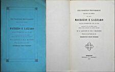 ORDINE DEI SANTI  MAURIZIO E LAZZARO REGI MAGISTRALI PROVVEDIMENTI 1851