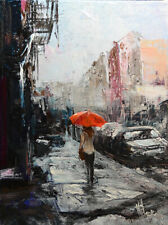Original Painting by American Artist M.Hee / Cityscape #MH_0191AC19