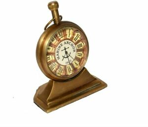 Antique Collectible Desktop watch and Décor Nautical brass Gifted item