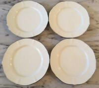 "4 Noritake Ivory China Imperial Platinum 7366 7"" Bread & Butter Side Plates EUC!"