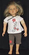 """My Twinn Madison Doll 23"""" Dirty Blond Hair Reddish Eyes Tan Skin Shirt Shorts"""
