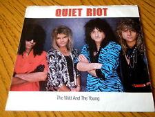 """Quiet Riot-el Salvaje y el joven 7"""" Vinilo Demo Ps"""