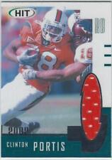Clinton Portis Miami Hurricanes Canes Football 2002 Sage Hit Cert Jersey Card