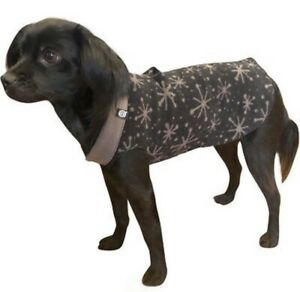 "Ultra Paws ""Doga Tog"" Dog Coat Size M Black Starry Fleece Jacket Soft Winter"