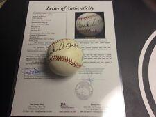 Hank Aaron HOF Signed Major League Baseball Ball Autograph JSA Letter Certified
