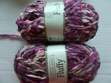 Northland Fluffy plush twist yarn, Purple Pink, lot of 2 (108 yds each)