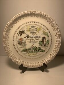 Vintage Alabama - The Cotton State Debutante by Laughlin Ceramic State Plate