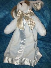 """Blue & Brown Puppy Dog 14"""" Lovey / Security Blanket by Bearington Baby"""