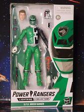 "New listing Power Rangers Lightning Collection S.P.D. Green Ranger 6"" Action Figure New 2021"