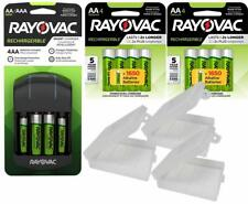 Rayovac AA and AAA NiMH Battery Charger with 12 AA  Rechargeable Batteries