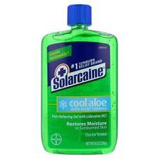 Solarcaine COOL Aloe BURN Relief GEL w ALOE VERA~Sunburn~Minor Cuts~Insect Bites