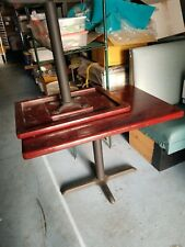 Square Dining Table brown Table Metal - Small/Large Available