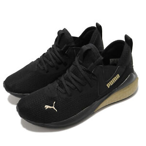Puma Cell Vive Wns Black Gold Women Running Training Sneakers Shoes 194358-03